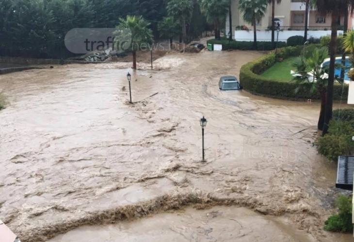 Пловдивчани попаднаха в епицентъра на невиждана стихия (ВИДЕО)