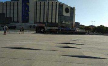 Площадът пред НДК, който беше ремонтиран за 2,5 млн. лв. сега е хълмист терен