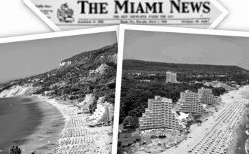 """Курортът """"Албена"""" в статия на """"Маями Нюз"""" от 1974 г."""