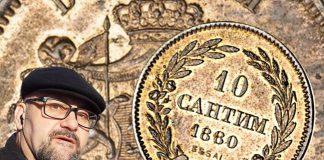 Стефан Пройнов: Монета 10 Сантима от 1880г.