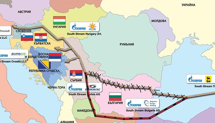 """""""Газпром"""" започва строителството на морския участък от """"Турски поток"""""""